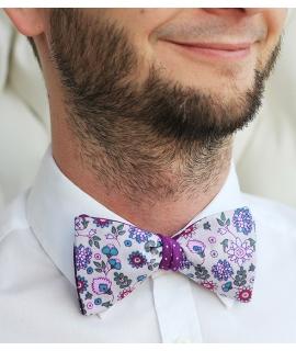 Oboustranný květovaný/fialový