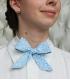 Dámský motýlek vzorovaný modro / bílý / květovaný