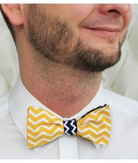 Oboustranný žlutobílý/modrobílý chevron