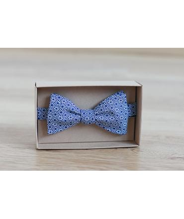 Motýlek modrý geometrický